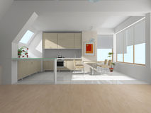 Interior of kitchen Stock Photography