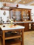Interior of kitchen. (exclusive design Royalty Free Stock Photos
