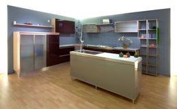 Interior of the kitchen. Modern Studio Royalty Free Stock Image