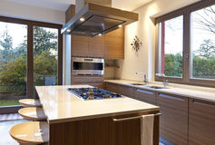 Interior, kitchen. Beautiful new apartment, interior, kitchen Stock Photo