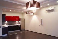 Interior. Kitchen. Interior of the modern kitchen royalty free stock image