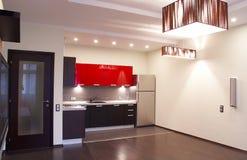 Interior. Kitchen. Interior of the modern kitchen royalty free stock photos