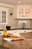 Interior kitchen. Luxury interior kitchen with granite counter tops Stock Photos