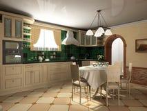 Interior of kitchen royalty free stock photos