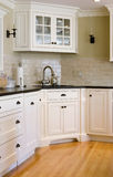Interior kitchen. Showing a corner sink Royalty Free Stock Photo