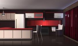 interior kitchen luxury modern Στοκ εικόνα με δικαίωμα ελεύθερης χρήσης