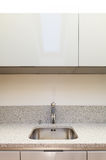 Interior, kitchen sink. Interior nice loft, domestic kitchen, closeup sink stock image