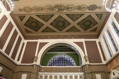 Interior Kiyevskaya railway station  (Kiyevsky railway terminal,  Kievskiy vokzal) -- Moscow, Russia Stock Image