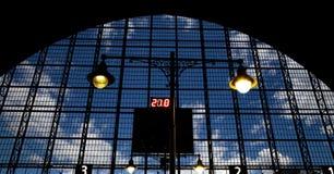 Interior Kiyevskaya railway station  (Kiyevsky railway terminal,  Kievskiy vokzal) -- Moscow, Russia Royalty Free Stock Images