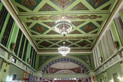 Interior Kiyevskaya railway station  (Kiyevsky railway terminal,  Kievskiy vokzal) -- Moscow, Russia Stock Photos