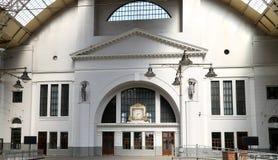Interior Kiyevskaya railway station  (Kiyevsky railway terminal,  Kievskiy vokzal) -- Moscow, Russia Royalty Free Stock Image
