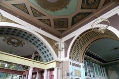 Interior Kiyevskaya railway station  (Kiyevsky railway terminal,  Kievskiy vokzal) -- Moscow, Russia Stock Photography