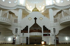 Interior of Klang Royal Town Mosque a.k.a Masjid Bandar Diraja Klang Stock Photography