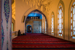 Interior of the Kocatepe mosque in Ankara Royalty Free Stock Photography