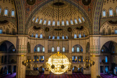 Interior of the Kocatepe mosque in Ankara Royalty Free Stock Images