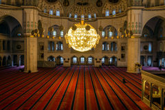 Interior of the Kocatepe mosque in Ankara Stock Photo