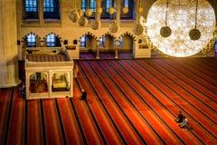 Interior of the Kocatepe mosque in Ankara Stock Photography