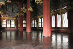 Interior of a Korean palace stock photography