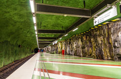 Interior of Kungstradgarden metro station of Stockholm Royalty Free Stock Photos