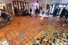 Interior Kunst Haus Wien (Hundertwasser museum) Royalty Free Stock Photos