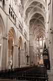 Interior of L'eglise des Reformes in Marseille. Gothic interior of the Saint Vincent de Paul church in Marseille, France Royalty Free Stock Photos