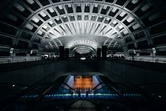 The interior of the L'Enfant Plaza Metro Station, in Washington, Stock Images