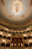 Interior of La Fenice Theatre, chandelier Royalty Free Stock Image