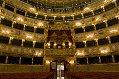 Interior of La Fenice Theatre Stock Images