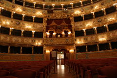 Interior of La Fenice Theatre Royalty Free Stock Image
