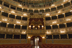 Interior of La Fenice Theatre Stock Photo