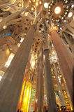 Interior: La Sagrada Familia Royalty Free Stock Photography