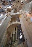 Interior of  La Sagrada Familia Royalty Free Stock Photos