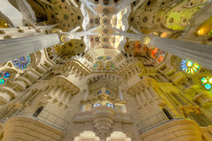 Interior of La Sagrada Familia Royalty Free Stock Images