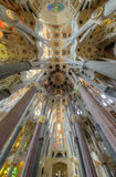 Interior of La Sagrada Familia royalty free stock photo