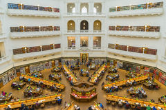 Interior of La Trobe Reading Room of the State Library of Victoria in Melbourne Stock Photos