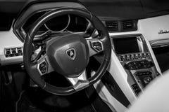 Interior of Lamborghini Aventador. Stock Photo