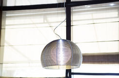 Interior lamp on ceiling of interior Stock Photo