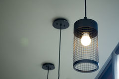 Interior lamp design. Low angle view of interior lamp Stock Photo