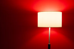 Interior lamp on red Stock Photography