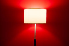 Interior lamp on red Royalty Free Stock Images