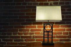Interior Lamp and Red Brick Wall Royalty Free Stock Photo