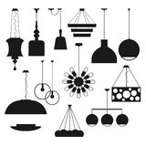 Interior lamps vector set. Lightning icons Royalty Free Stock Image