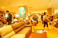 Interior landscape of household goods market. At yi fang cheng shopping mall. In Shenzhen, China Stock Images