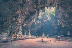Khao Luang Cave - Phetchaburi, Thailand. The interior landscape of Khao Luang Cave - Phetchaburi, Thailand stock image