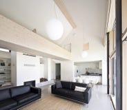 Interior large luxury house Royalty Free Stock Photo