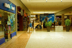 The interior of a large mall in canada Royalty Free Stock Image