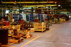 Interior of a large manufacturer. Royalty Free Stock Photography