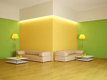 The interior of a large room Stock Photo