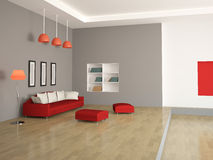 The interior of a large room Stock Image