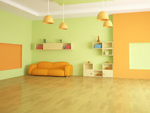 The interior of a large room Royalty Free Stock Images